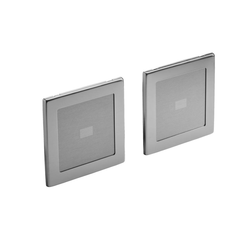 SoundTile Speakers in Brushed Chrome