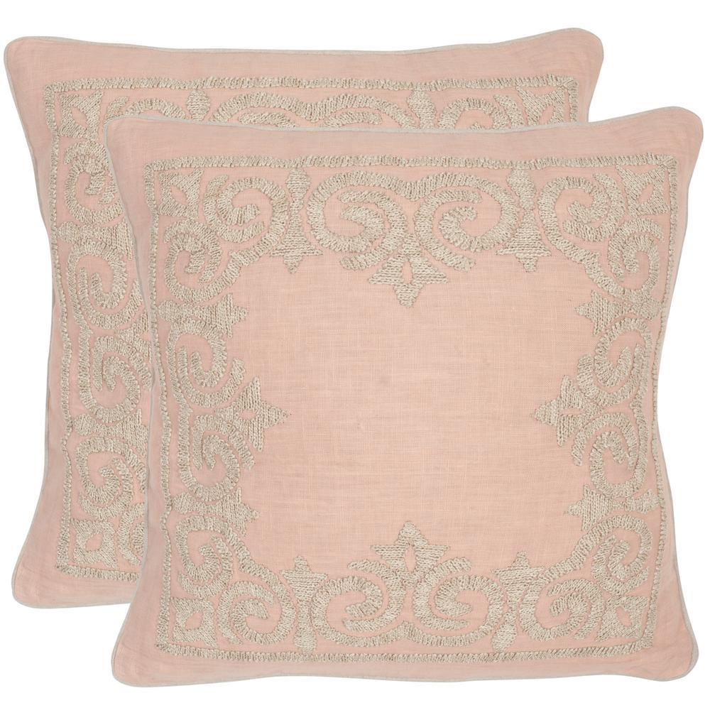 Florentine Petal Geometric Down Alternative 20 in. x 20 in. Throw Pillow (Set of 2)
