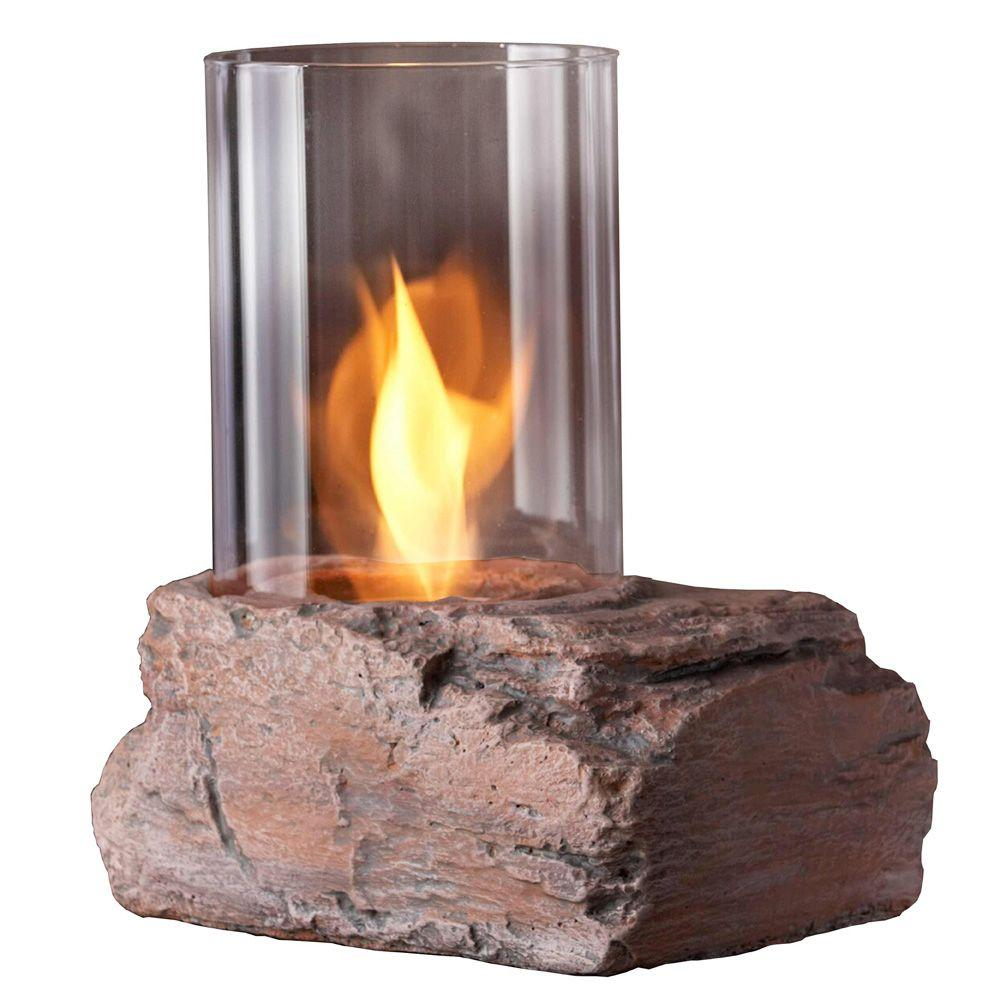 Real Flame Red Rock Tabletop Gel Fuel Personal Fireplace-DISCONTINUED