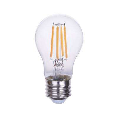 40-Watt Equivalent A15 Dimmable Clear Glass Filament LED Light Bulb Warm White 2700K