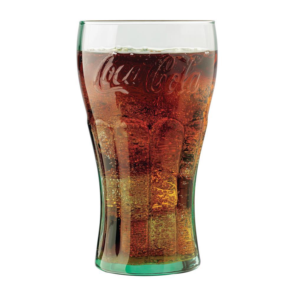 Coke 6-Piece Clear Glass Tumbler Set