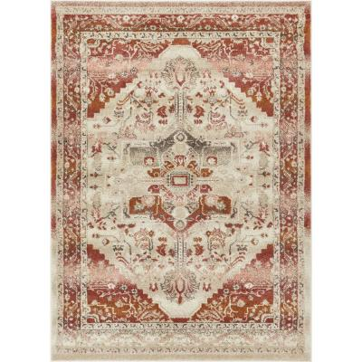 5 X 7 Brown Well Woven Area Rugs Rugs The Home Depot