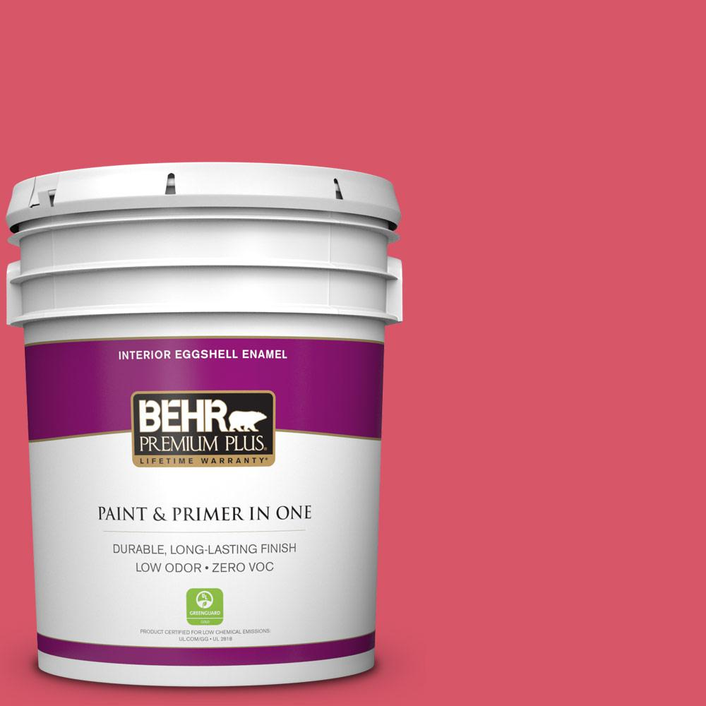 5 gal. #130B-6 Dragon Fruit Zero VOC Eggshell Enamel Interior Paint