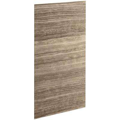 Choreograph 0.3125 in. x 36 in. x 72 in. 1-Piece Bath/Shower Wall Panel in VeinCut Sandbar for 72 in. Bath/Showers