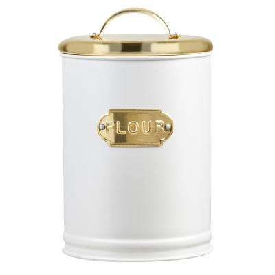 Madison 78 oz. Metal Storage Canister with Flour Label