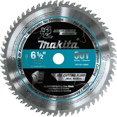6-1/2 in. 60T Carbide-Tipped Ultra-Thin Kerf Saw Blade in Aluminum