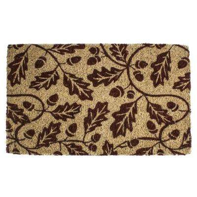Acorns 18 in. x 30 in. Hand Woven Coconut Fiber Door Mat