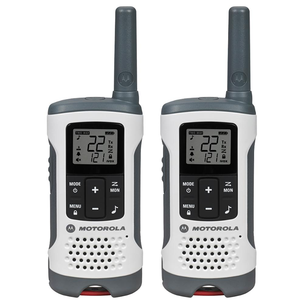Motorola T260 Rechargeable 2-Way Radio, White (2-Pack)