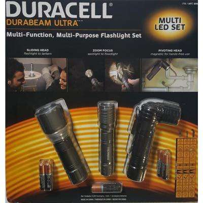 Durabeam Ultra Multi Purpose Flashlight Set With Batteries (3-Pack)