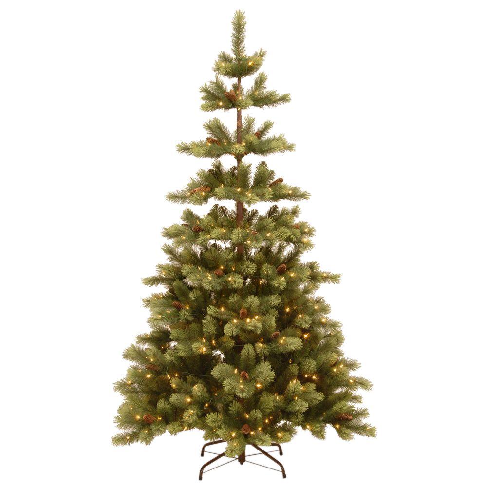 National Tree Company 7-1/2 ft. Woodland Carolina Pine Hinged ...