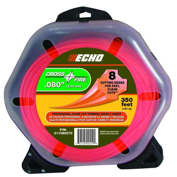 .080'' Cross-Fire Trimmer Line (350 ft.) Large Clam