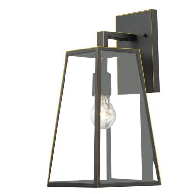 1-Light Imperial Black Outdoor Wall Lantern Sconce