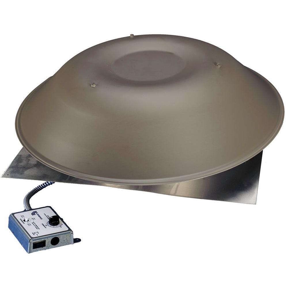 Lomanco lomancool 2000 800 cfm weathered bronze power - Solar powered bathroom exhaust fan ...