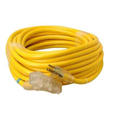50 ft. 10/3 SJTW Tri-Source (Multi-Outlet) Outdoor Heavy-Duty Extension Cord