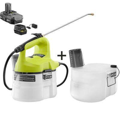 ONE+ 18-Volt Lithium-Ion Cordless 1-Gal. Chemical Sprayer & Extra Accessory Tank - 1.3 Ah Battery and Charger Included