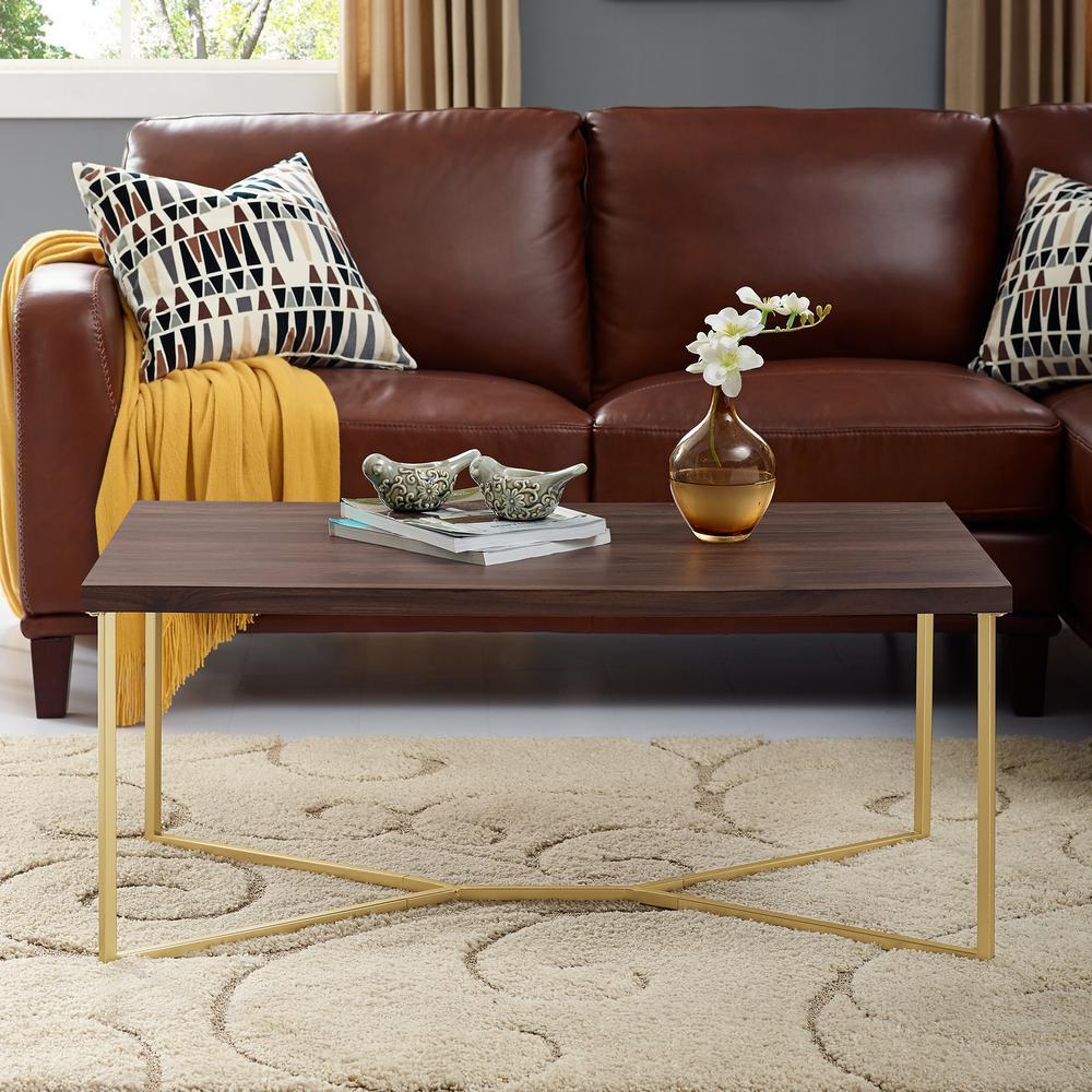 Modern Walnut Living Room Furniture walnut - coffee table - mid-century modern - living room furniture