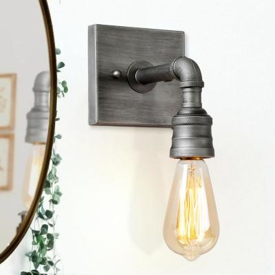 1-Light Brushed Gray Wall Sconce with LED Compatible