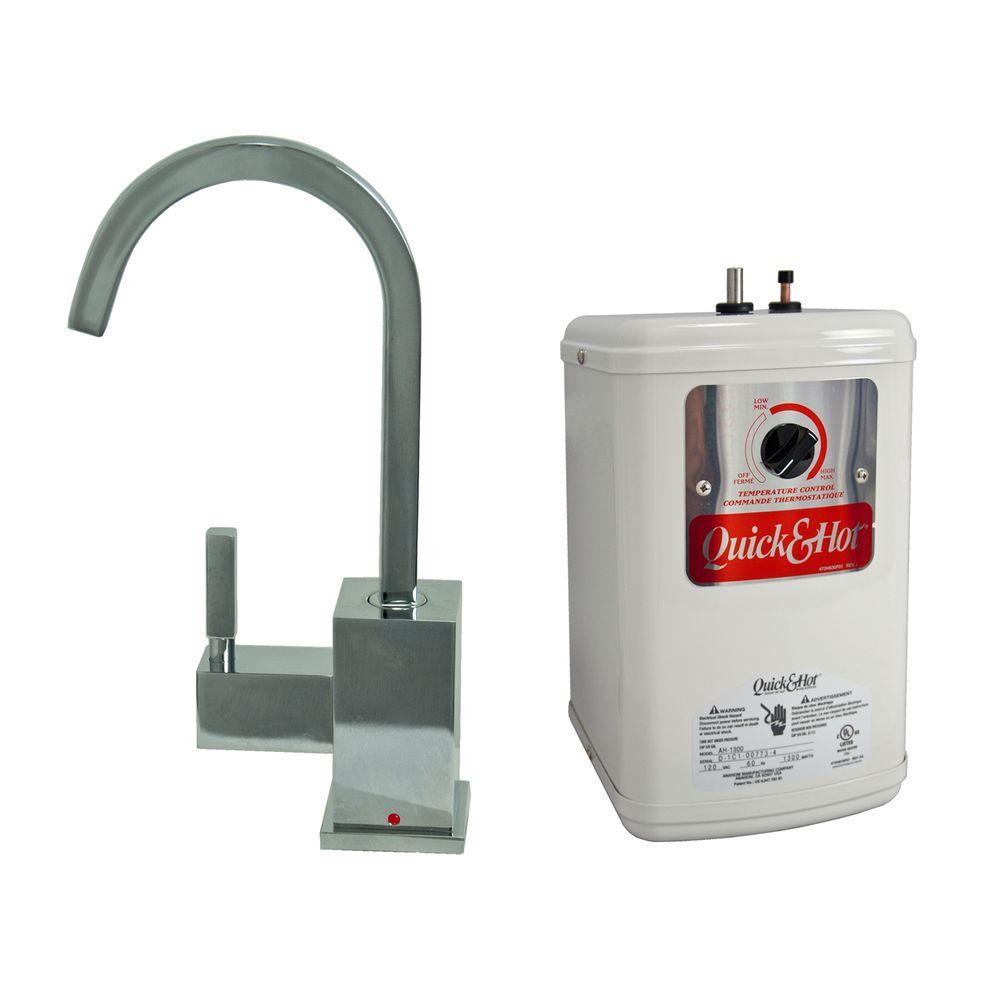 null Single-Handle Hot Water Dispenser Faucet with Heating Tank in Polished Chrome
