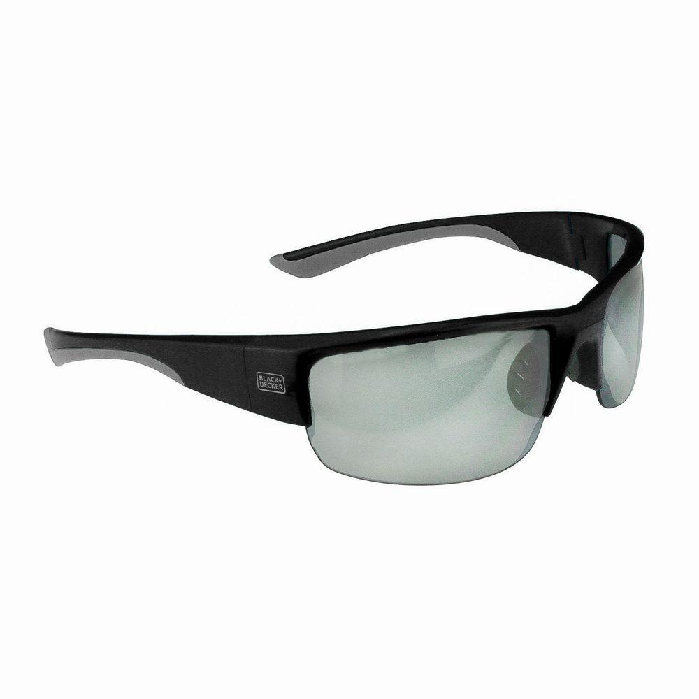 BLACK+DECKER Top Frame Wide Coverage Safety Glasses with Ice Mirror ...
