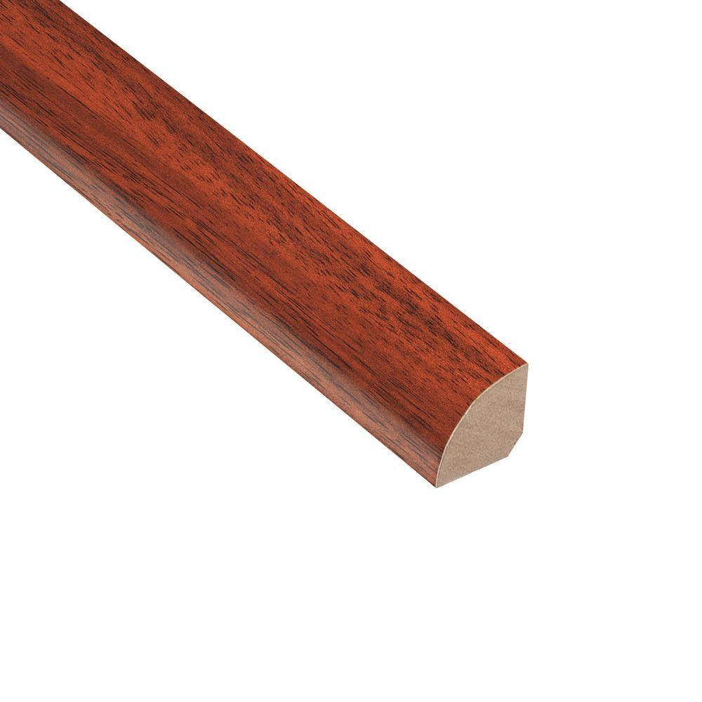 Home Legend High Gloss Brazilian Cherry 3/4 in. Thick x 3/4 in. Wide x 94 in. Length Laminate Quarter Round Molding
