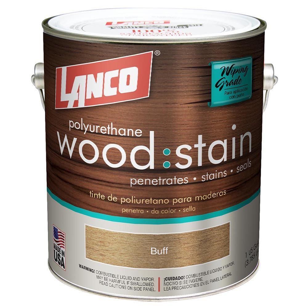 Wood Stain 1 Gal. Buff Satin Polyurethane