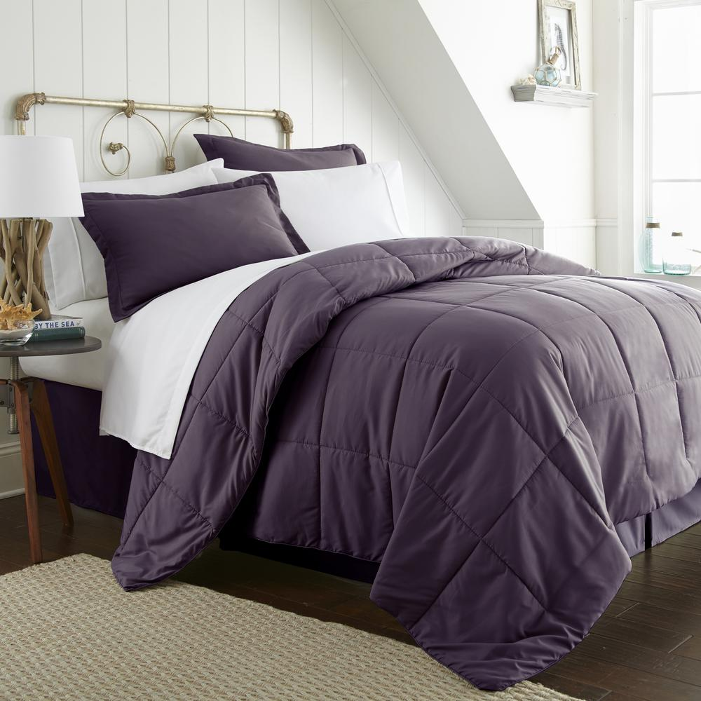 Bed In A Bag Performance Purple Full 8-Piece Bedding Set