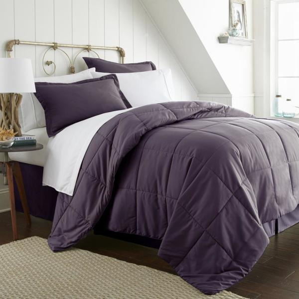 Becky Cameron Performance 8-Piece Purple King Bed in a Bag Set