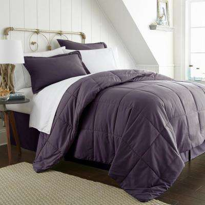 Bed In A Bag Performance Purple Twin 8-Piece Bedding Set