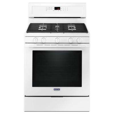 30 in. 5.8 cu. ft. Gas Range with True Convection in White