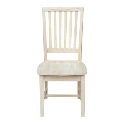 Unfinished Wood Mission Dining Chair (Set of 2)