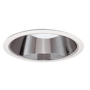 Halo 426 series 6 in white recessed ceiling light with specular clear recessed ceiling light specular reflector with white trim ring aloadofball Image collections