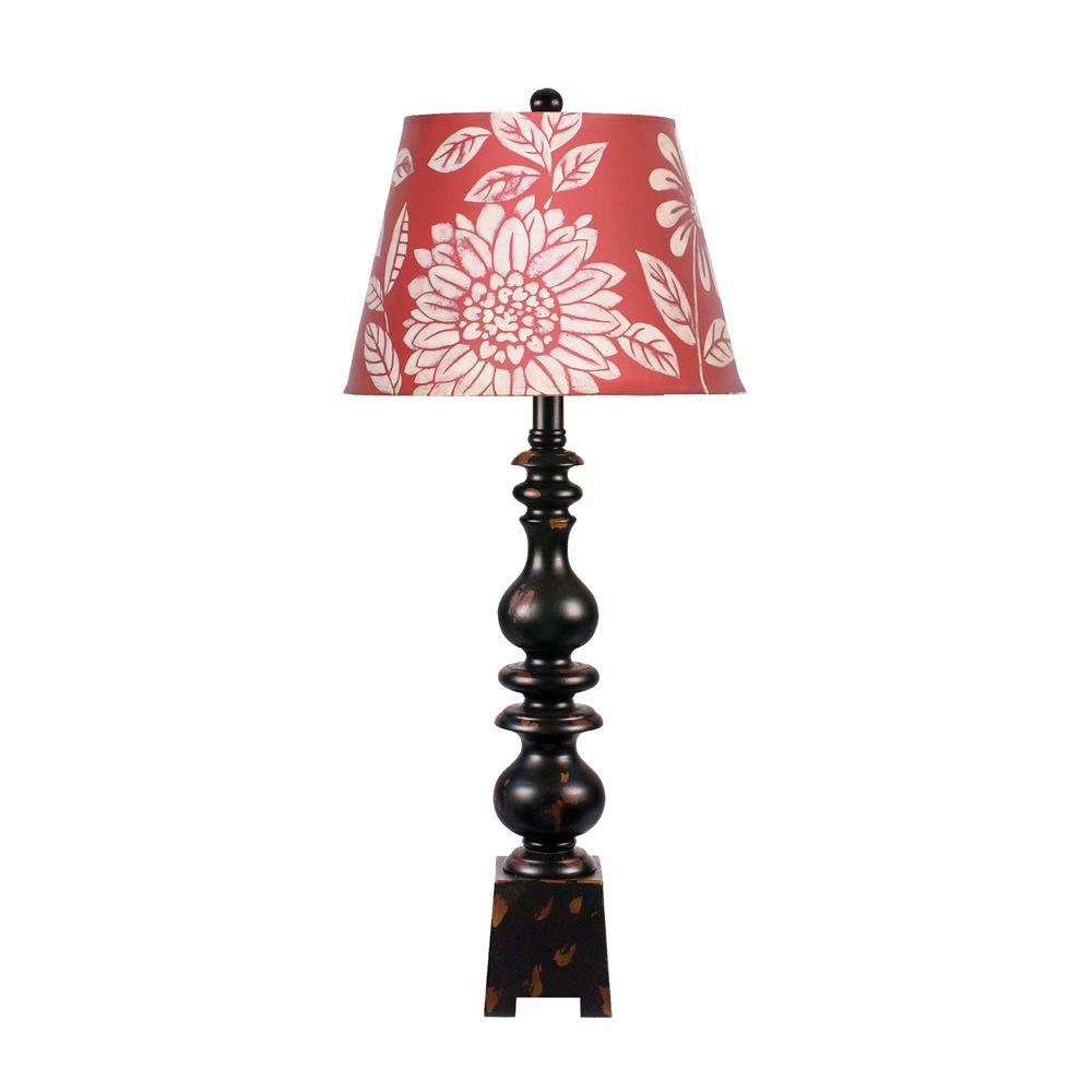 Titan Lighting 34 in. Montpelier Floral Shade Table Lamp-DISCONTINUED