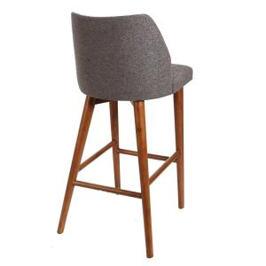 Stupendous Mid Century 29 In Gray Wood And Channel Tufting Bar Stool Cjindustries Chair Design For Home Cjindustriesco