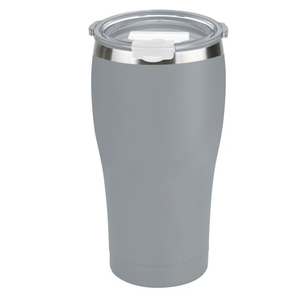 bdc2525fef9c Tahoe Trails 20 oz. Charcoal Gray Vacuum Insulated Stainless Steel Tumbler  (2-Pack