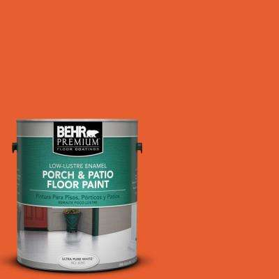 1 gal. #S-G-230 Startling Orange Low-Lustre Porch and Patio Floor Paint