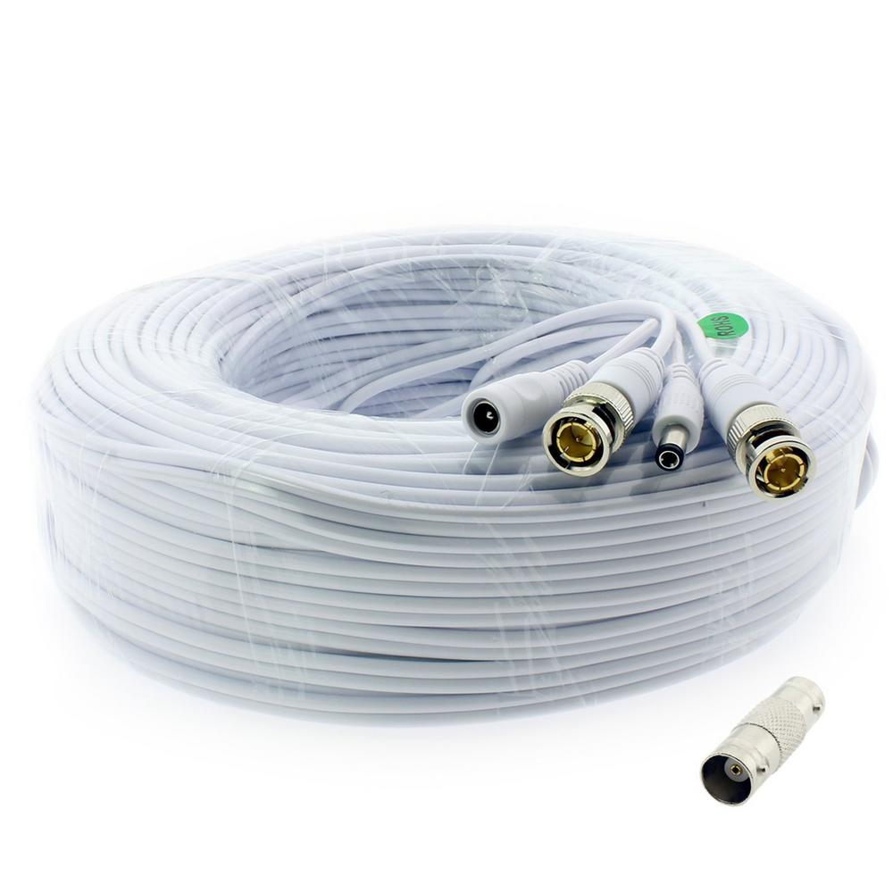 Q-SEE 200 ft. Shielded Video and Power BNC Male Cable with 2-Female ...