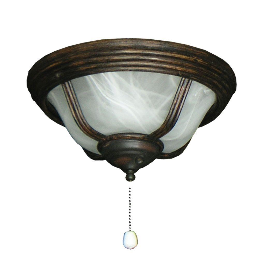 TroposAir 190 Cabo Night Bowl Oil Rubbed Bronze Ceiling Fan Light