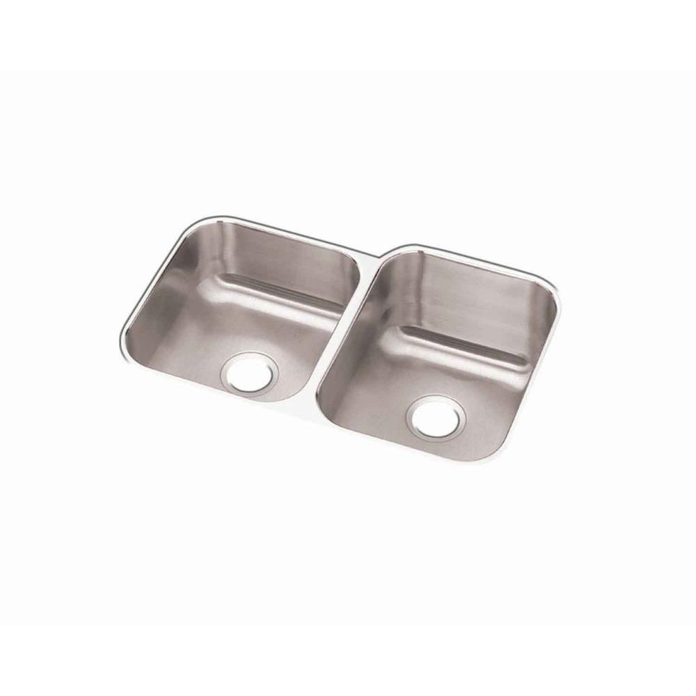 Revere Undermount Stainless Steel 32 in. Double Bowl Kitchen Sink