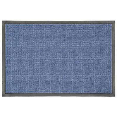23.5 in. x 35.5 in. Blue Rubber Commercial Door Mat