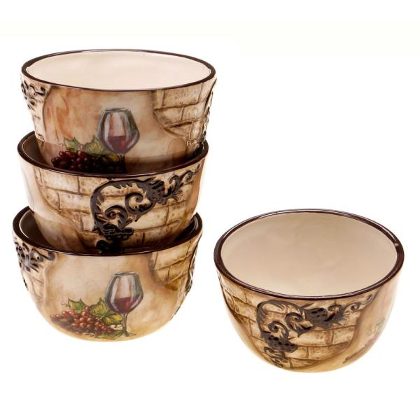 Certified International Tuscan View Ice Cream and Cereal Bowl (Set of