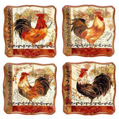Tuscan Rooster 8.5 in. Salad/Dessert Plate (Set of 4)
