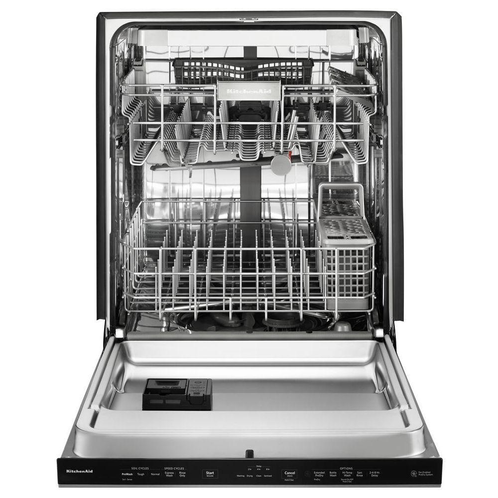 Kitchenaid Top Control Built In Tall Tub Dishwasher In Printshield