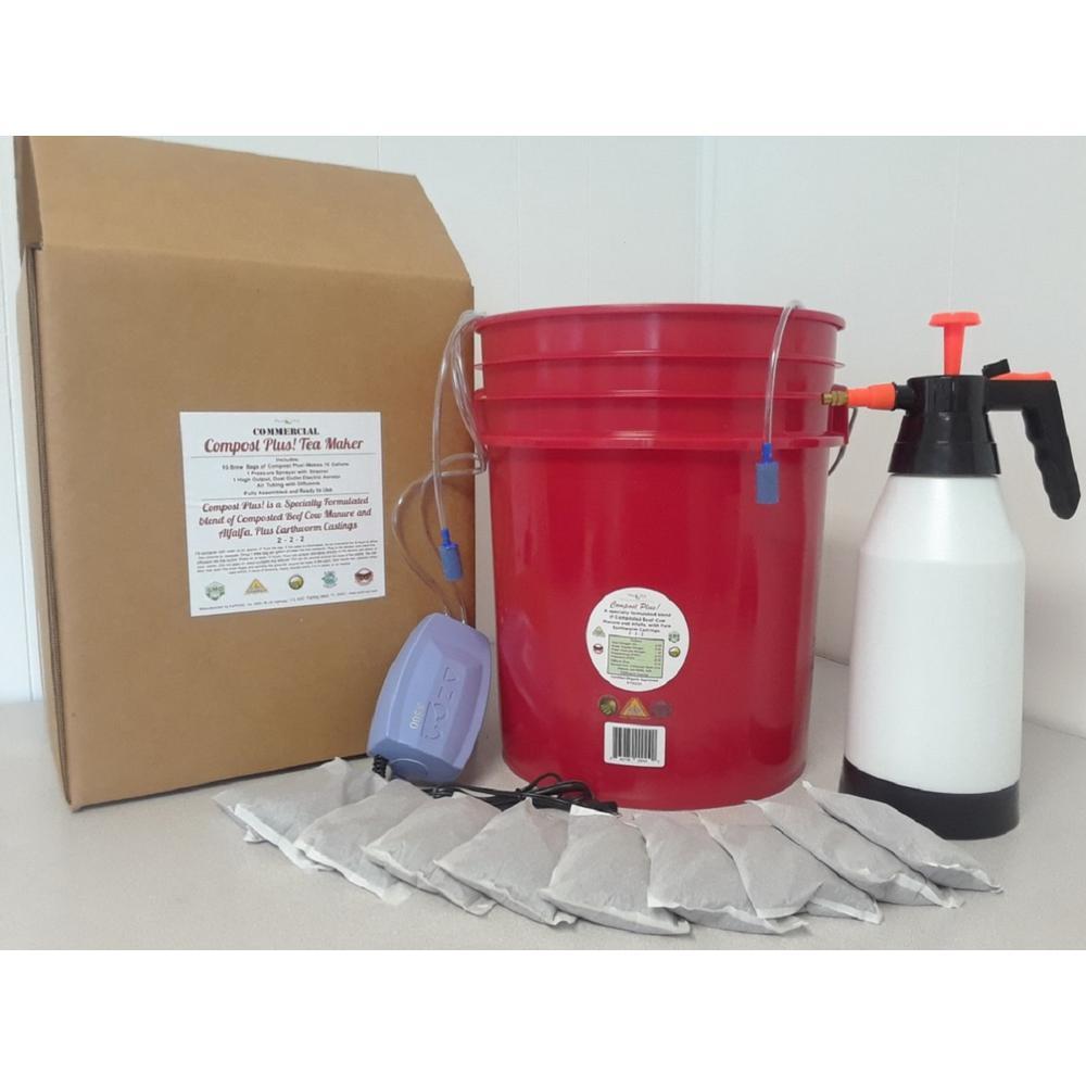 Compost Plus Commercial Grade Compost Tea Maker Including 10 Compost Plus Brew Bags. Makes 10 Gal.
