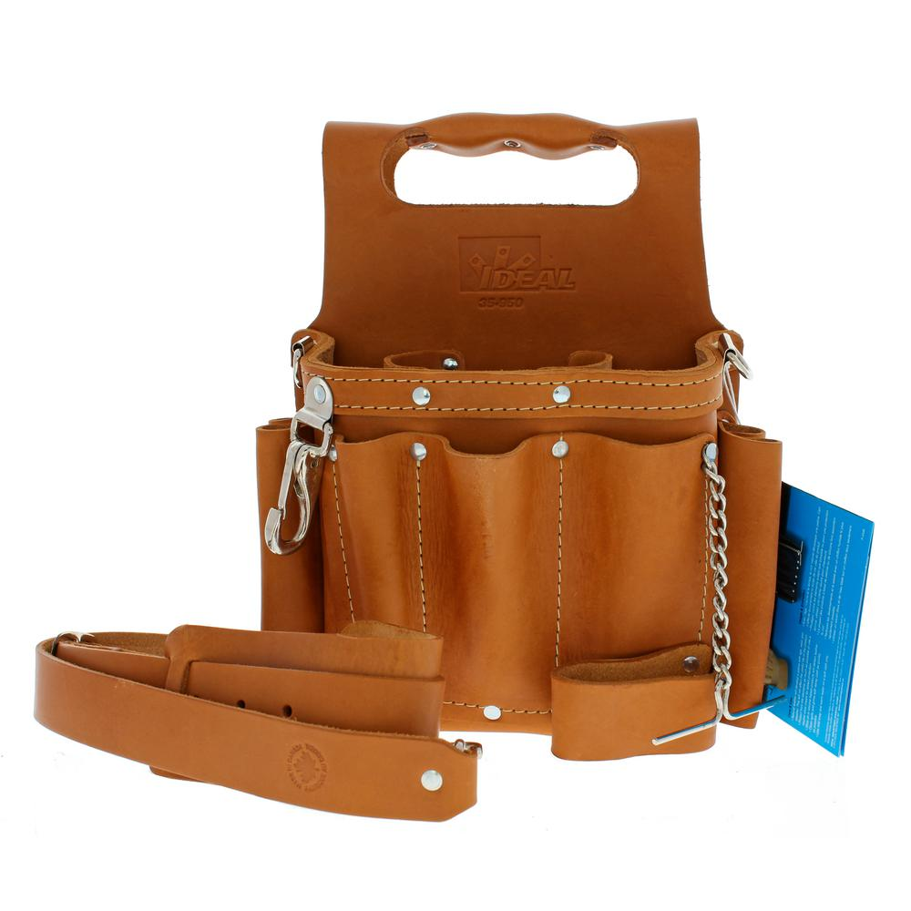 W Tuff Tote Premium Leather Tool Bag With Strap 8