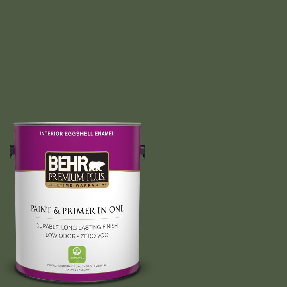 BEHR Premium Plus 1-gal. #420F-7 Forest Ridge Zero VOC Eggshell Enamel Interior Paint