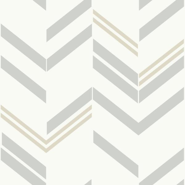 Roommates Chevron Stripe Vinyl Peelable Wallpaper Covers 28 18 Sq Ft Rmk9004wp The Home Depot