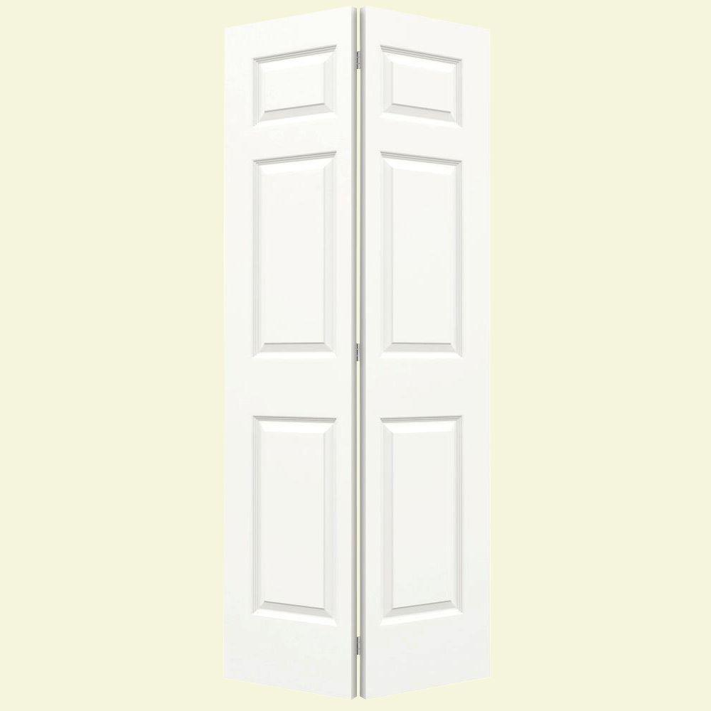 JELD-WEN 36 in. x 80 in. Colonist White Painted Smooth Molded Composite MDF Closet Bi-fold Door
