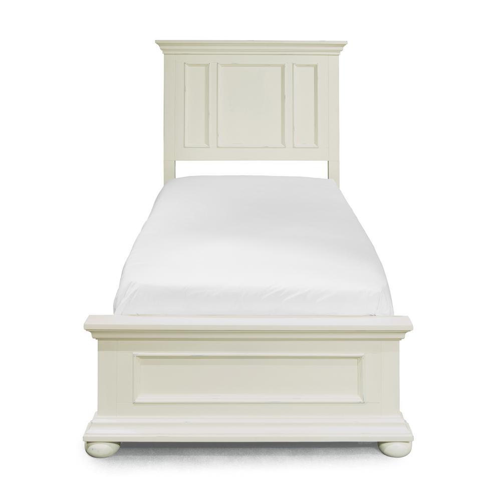 Dover 4-Piece White Twin Bedroom Set