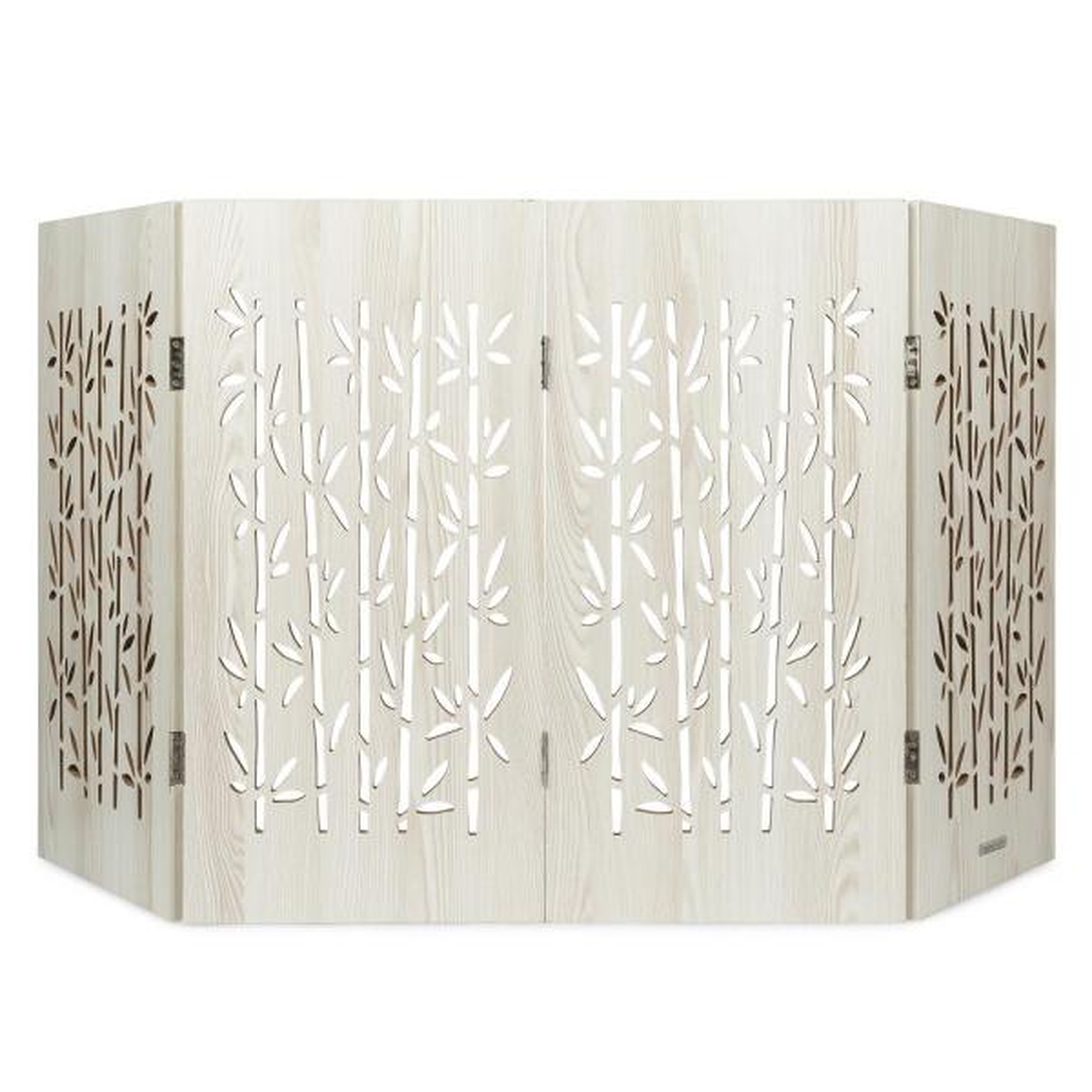 Cardinal Gates Decorative Freestanding Pet Gate, Aspen Bamboo