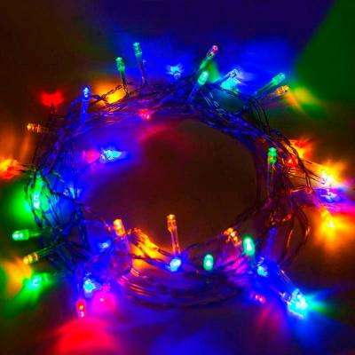 50 multi color led battery operated string lights lot of 5
